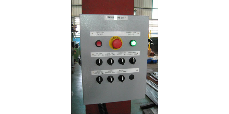 Cut to Length line Uncoiler Line Control Panel