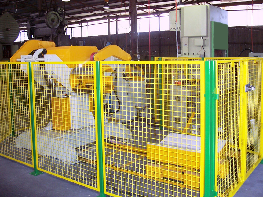Metal Stamping Press line safety guarding